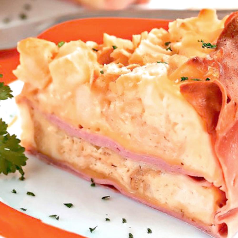 Torta de Mortadela Cofril e queijo